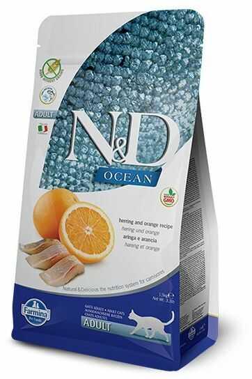 N&D Ocean Herring & Orange Adult Cat