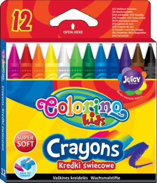 Kredki świecowe 12 kolorów Colorino 813314