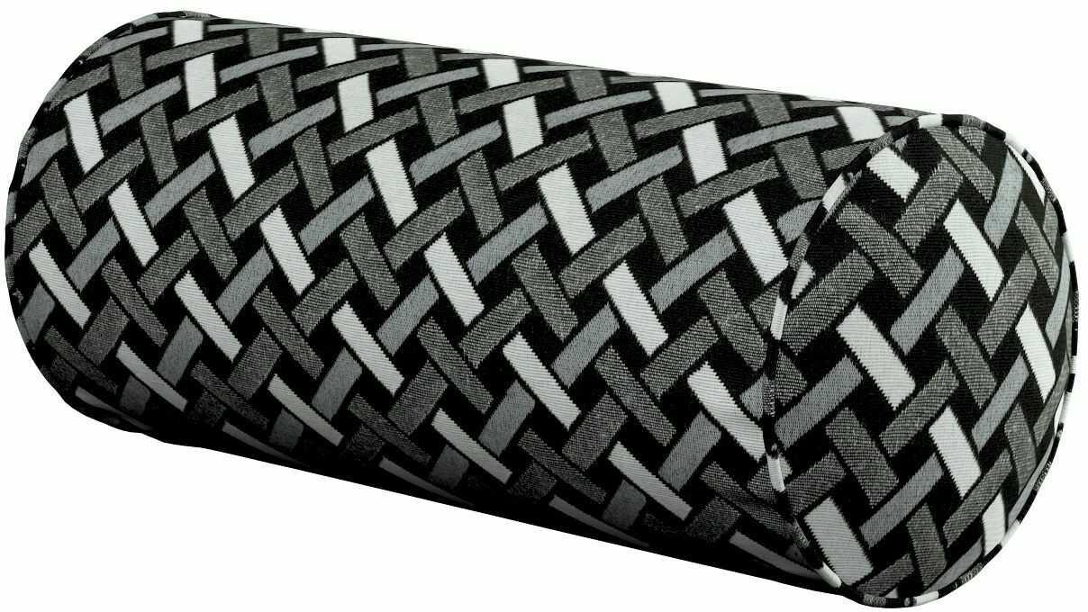 Poduszka wałek prosty, czarno-biały, Ø16  40 cm, Black & White