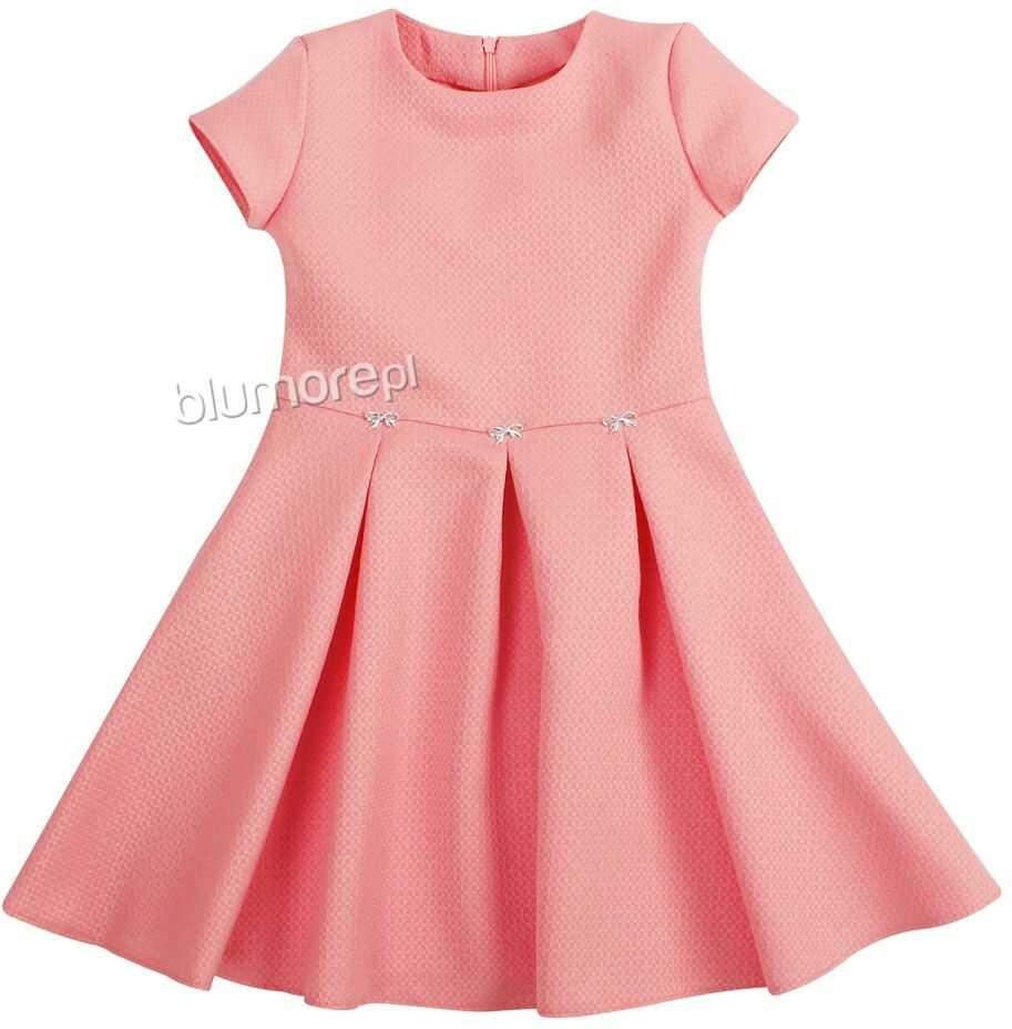 Rozkloszowana sukienka dla dziewczynki 128-158 Diana róż