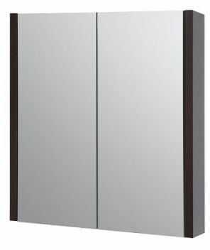 Szafka z lustrem łazienkowa SERENA, dąb czarny