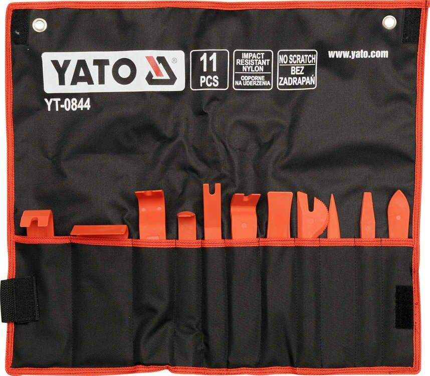 Zestaw ściągaczy do tapicerki kpl. 11 szt. Yato YT-0844 - ZYSKAJ RABAT 30 ZŁ