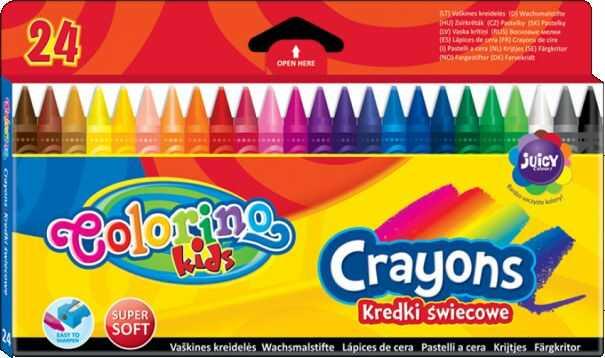 Kredki świecowe 24 kolory Colorino 813895