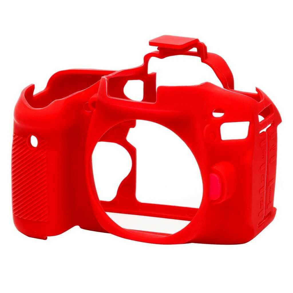 Osłona silikonowa easyCover do aparatów Canon EOS 80D czerwona