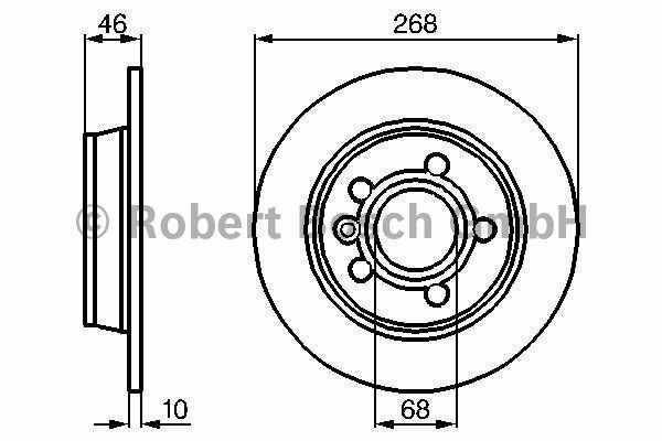 tarcze hamulcowe Bosch - tył