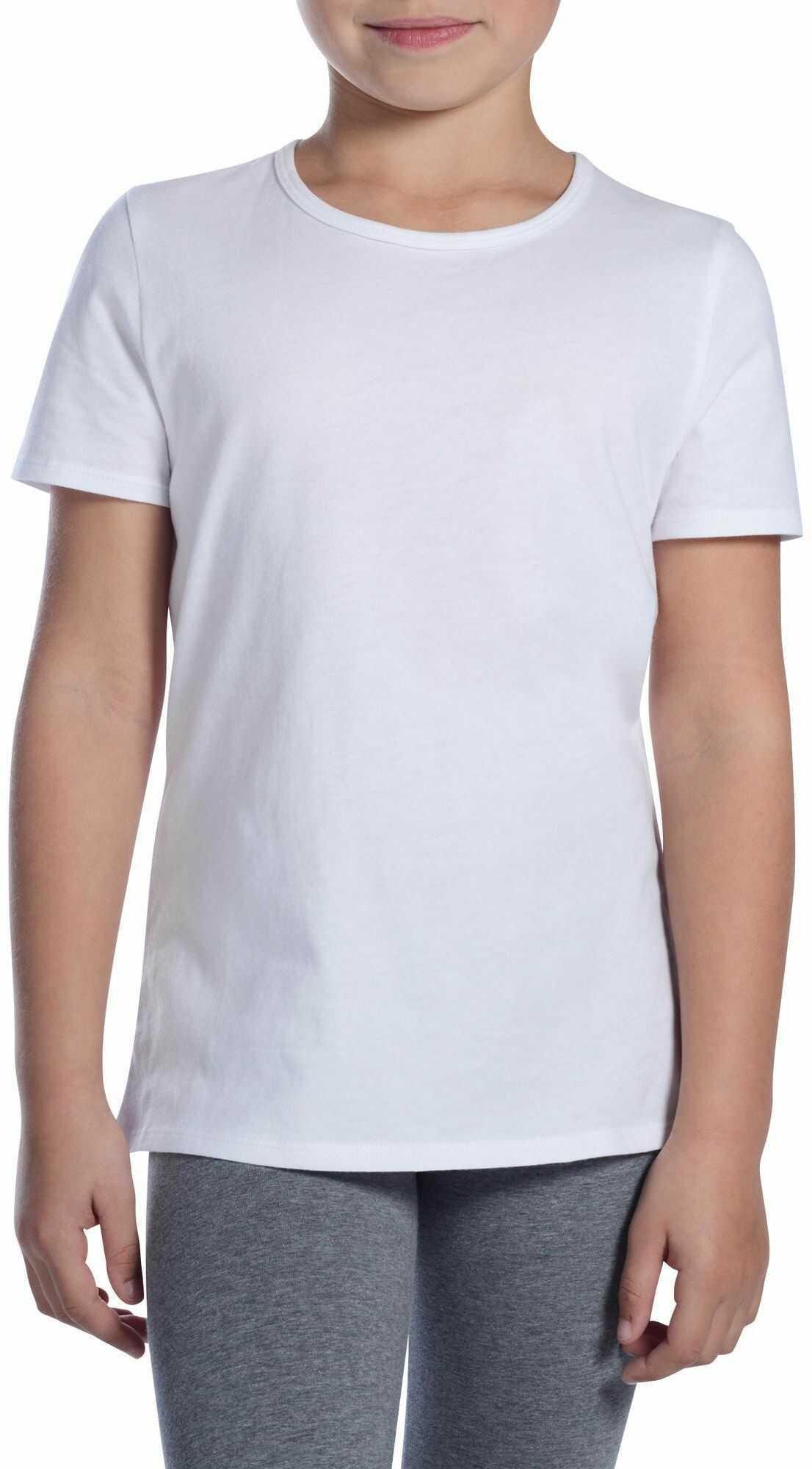 Koszulka krótki rękaw do gimnastyki 100 dla dzieci