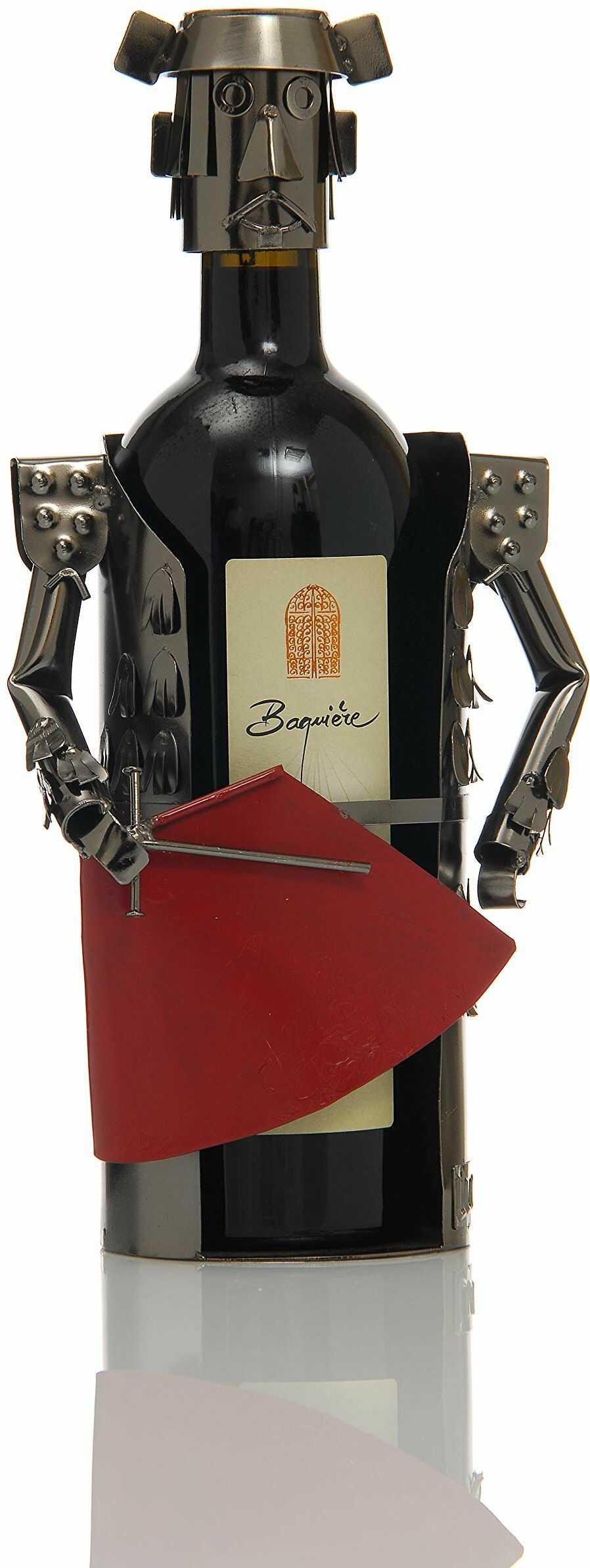 ludi-vin 5060388470074 Torero metalowy uchwyt na butelkę 15 cm x 9 cm x 20,2 cm
