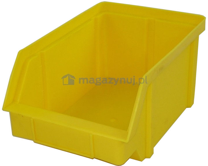 Pojemnik warsztatowy z polipropylenu standardowego, wym. 440 x 285 x 210 mm (Kolor żółty)