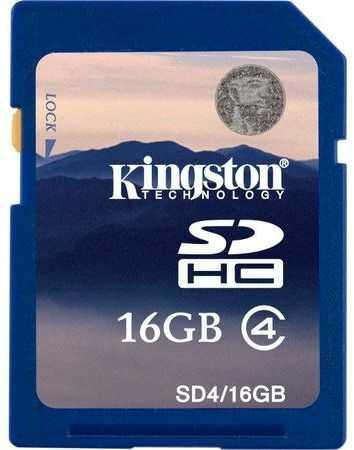 Karta pamięci Kingston SDHC 16 GB Class 4 (SD4/16GB)
