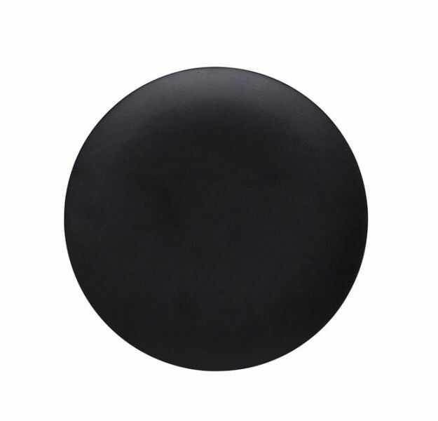 A Simple Mess NILLA Okrągła Taca Dekoracyjna 20 cm z Drewna Mango - Czarna