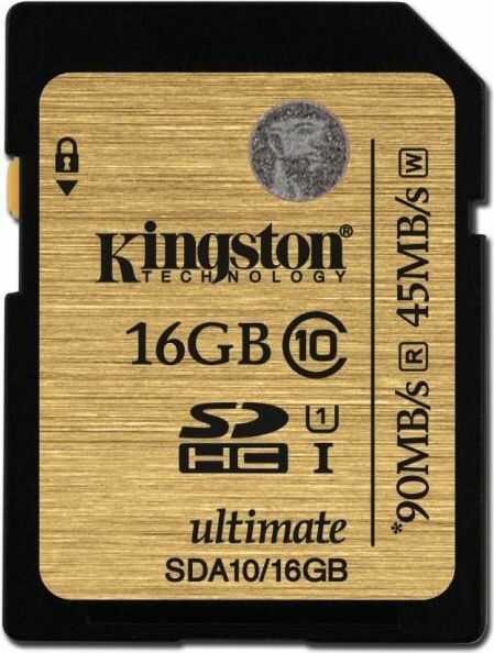 Karta pamięci Kingston SDHC 16GB Class 10 (SDA10/16GB)