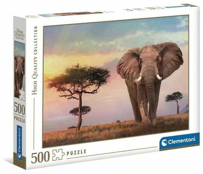 Puzzle 500 HQ African Sunset - Clementoni