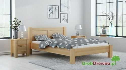 Łóżko do sypialni drewniane bukowe King 120x200