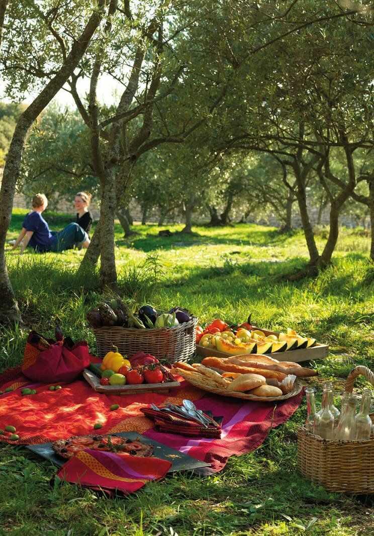 Obrus żakardowy Le Jacquard Fran ais Provence Strawberry