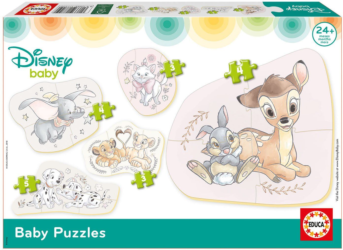 Educa 17755 Mickey Top Départ Baby Puzzle Disney Tiere, inne, normy