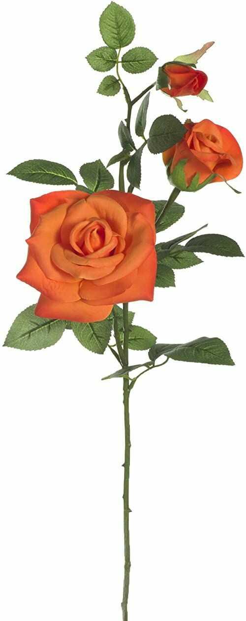 12 gałązek z 3 sztucznymi różami.