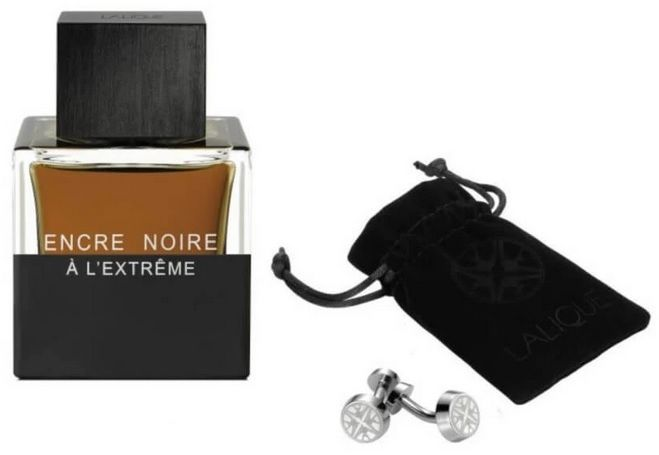 Lalique Encre Noire A L Extreme Pour Homme woda perfumowana - 50ml + spinki do mankietów