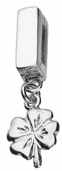 Rodowany srebrny wiszący charms do pandora koralik reflexions koniczynka lucky srebro 925 AP9177KRH