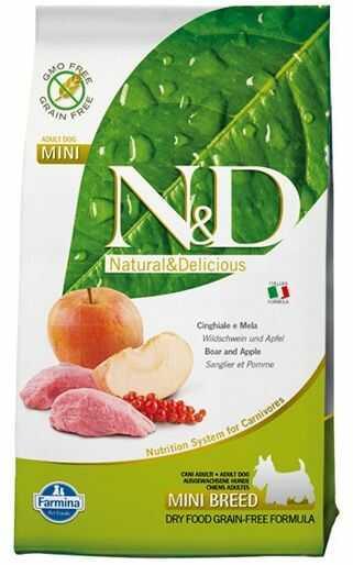 Farmina N&D Prime Boar&Apple Adult Mini Dog - bezzbożowa karma z dziczyzną dla psów małych ras