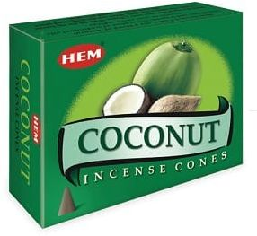 Kadzidełka Coconut Stożkowe Stożki Kokos HEM 10szt.