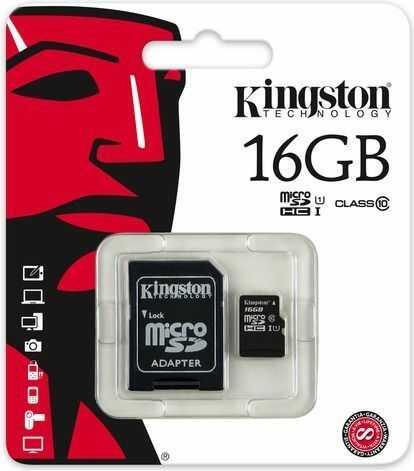Karta MicroSD Kingston SDHC 16GB Class 10 + adapter (SDC10/16GB)