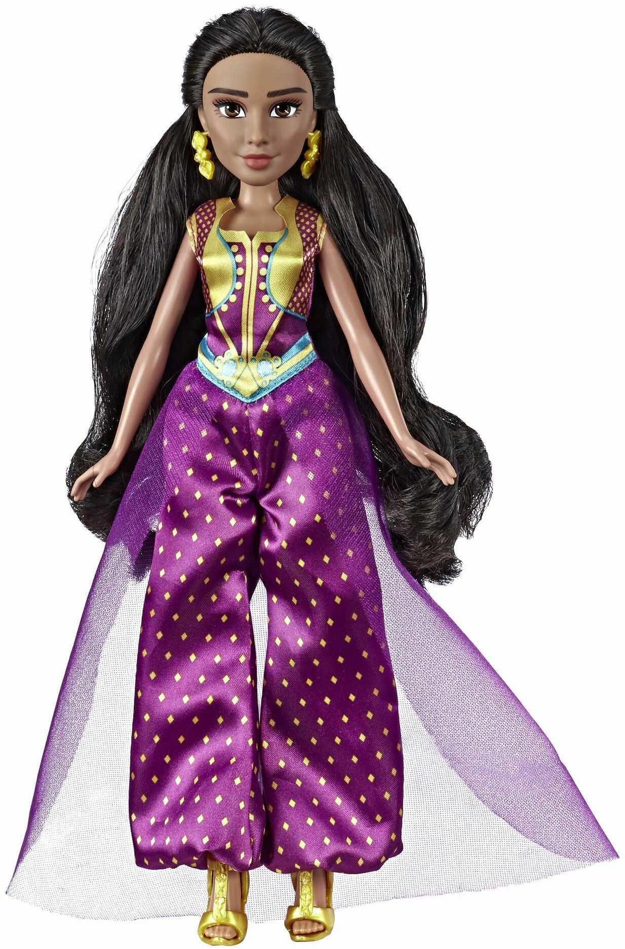 Disney Aladdin Princess Jasmine Deluxe modna lalka z sukienką, butami i akcesoriami
