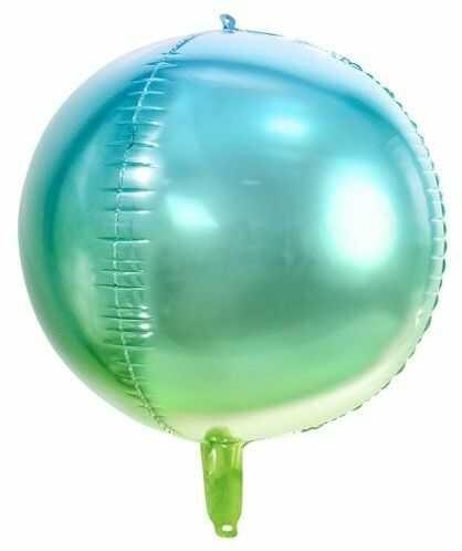 Balon foliowy Kula ombre niebiesko-zielony 35cm FB39-001