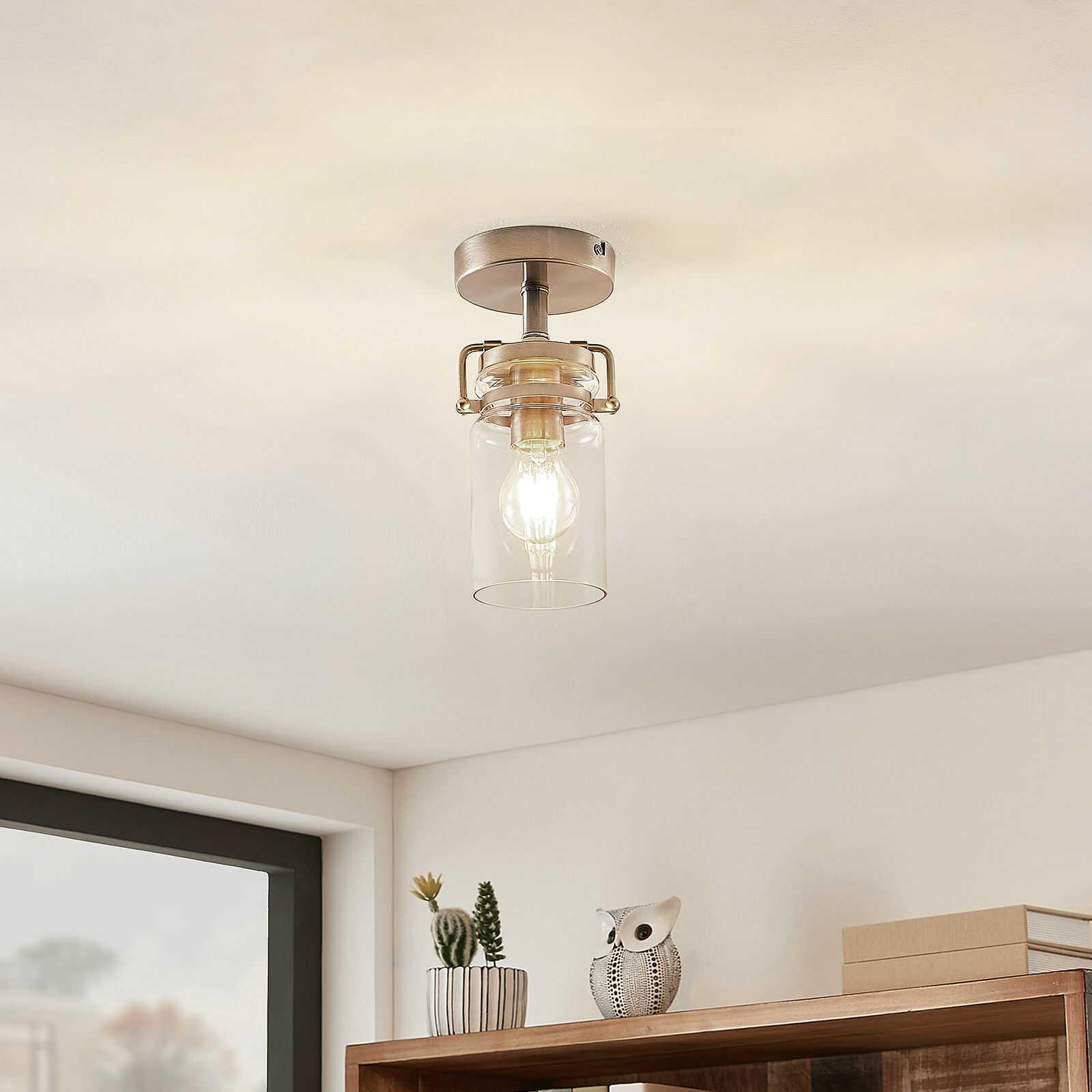 Lindby Vintus lampa sufitowa, nikiel