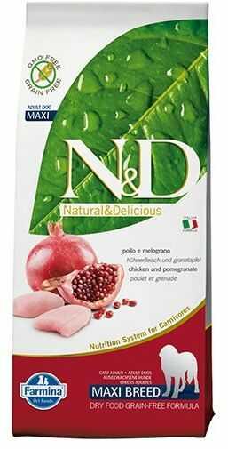 Farmina N&D Prime Chicken&Pomegranate Adult Medium/Maxi Dog - bezzbożowa karma z kurczakiem dla średnich i dużych psów
