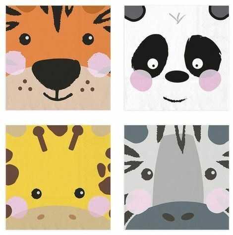 Serwetki Zwierzątka Safari Wild Animals 20 sztuk 512590