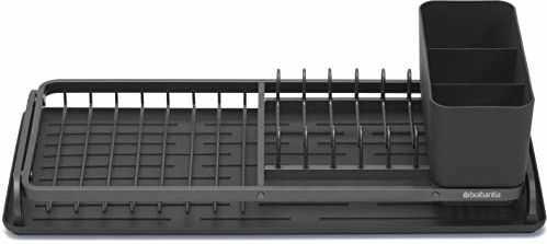 Brabantia 117268 kompaktowy ociekacz, stal, ciemnoszary, 46,3 x 20 x 12,6 cm