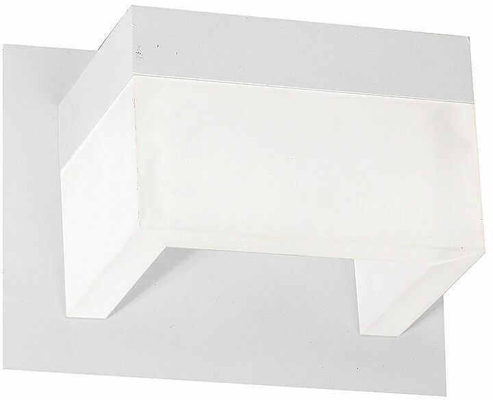 Milagro CUBO ML448 kinkiet lampa ścienna biały metal prostokątna obudowa w formie kostki 7W LED 4000K 16cm