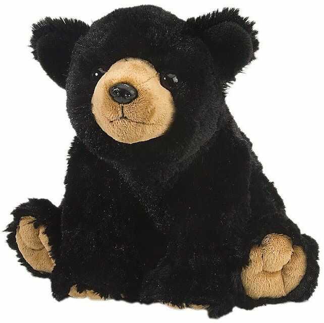 Wild Republic 10901 pluszowy miś czarny, Cuddlekiny, pluszowe zwierzątko, 30 cm