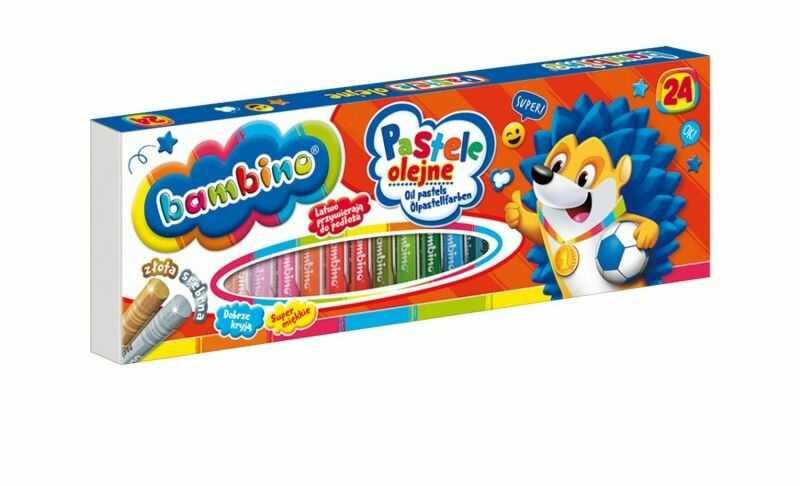 Pastele olejne 24 kolory Bambino 3127