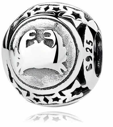 Rodowany srebrny charms do pandora znak zodiaku rak srebro 925 BEAD25