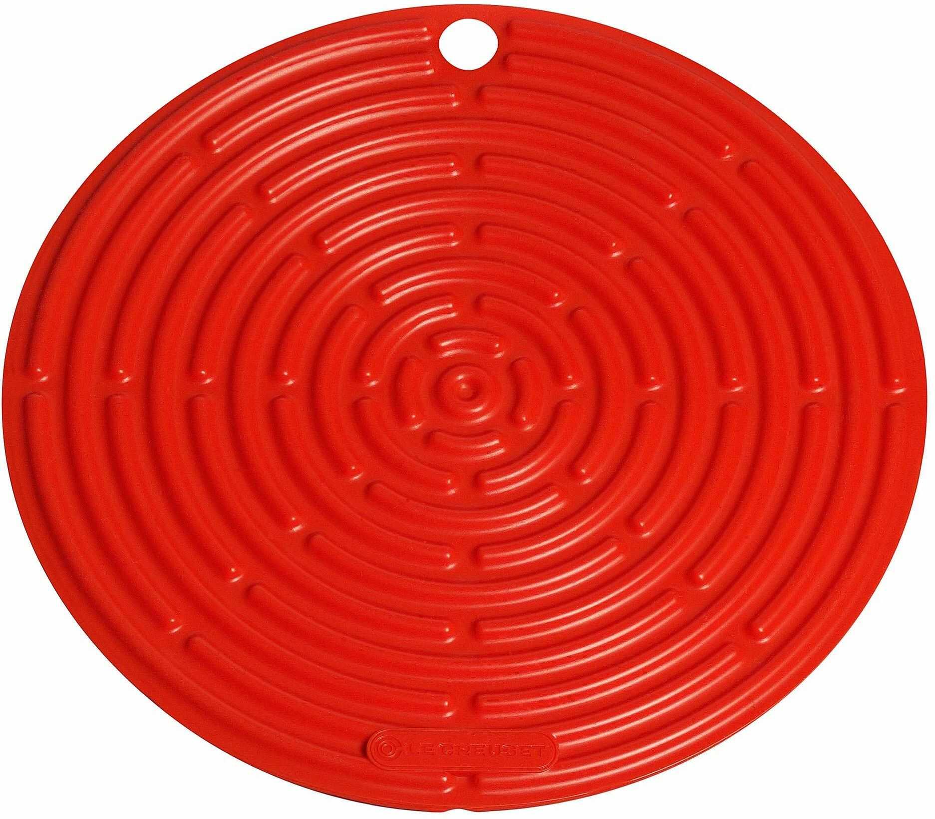 Le Creuset Silikonowe narzędzie chłodzące, ochrona powierzchni, uchwyt do garnków, otwieracz do słoików, 20,5 cm, wulkaniczny
