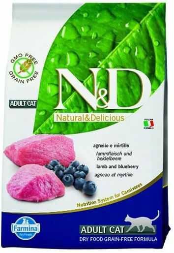 Farmina N&D Prime Lamb&Blueberry Adult Cat - bezzbożowa karma z jagnięciną dla dorosłych kotów