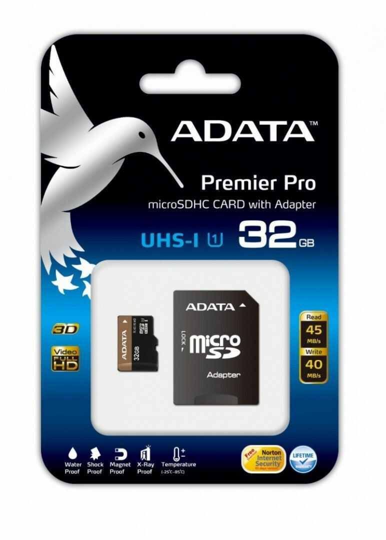 Karta pamięci ADATA karta pamięci Micro SDHC UHS-1 U1 32GB + SDHC Adapter (Full HD) Retail