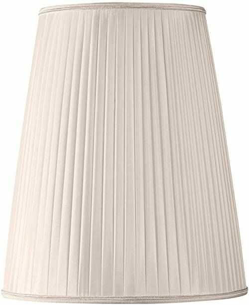 Plisowany klosz w kształcie bistro średnica 20 x 10 x 30 (ręcznie gładki) muszla różowa