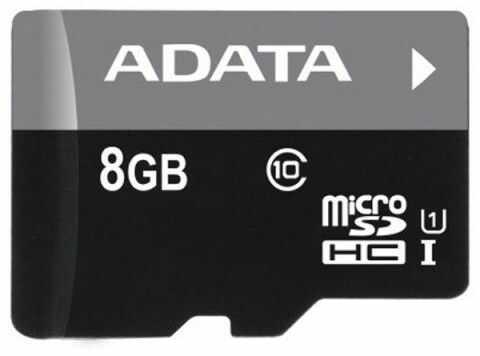 Karta pamięci MicroSDHC ADATA 8GB Class 10 AUSDH8GUICL10-R