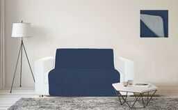 Träume und Capricci narzuta na sofę, wodoodporna, 2 siedzenia Blu Scuro/Grigio Chiaro