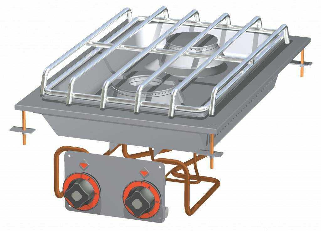Kuchnia stołowa gazowa 13000W 400x600x(H)110mm