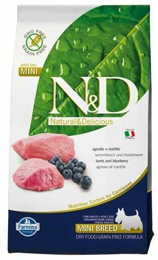 Farmina N&D Prime Lamb&Blueberry Adult Mini Dog - bezzbożowa karma z jagnięciną dla psów małych ras