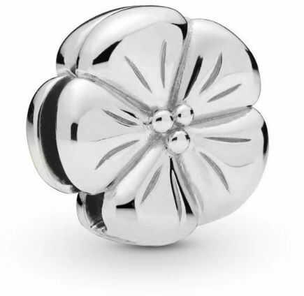 Rodowany srebrny charms do pandora koralik reflexions kwiatuszek kwiat flower srebro 925 FLAT43RH