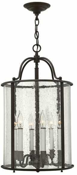 Lampa wisząca Gentry HK/GENTRY/P/L OB Hinkley brązowa oprawa w klasycznym stylu