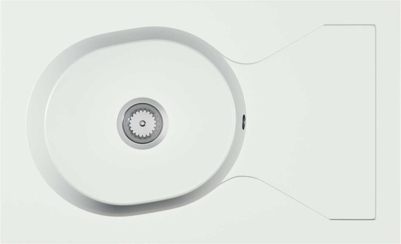 Zlewozmywak granitowy ALERO biały