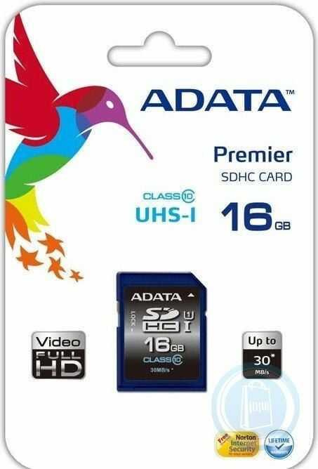 Karta pamięci ADATA 16GB SDHC UHS-1 Class 10 (Transfer do 30MB/s)- ASDH16GUICL10-R