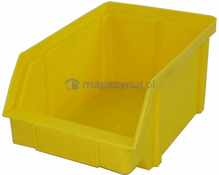 Pojemnik warsztatowy z polipropylenu standardowego, wym. 440 x 285 x 210 mm (Kolor czarny)