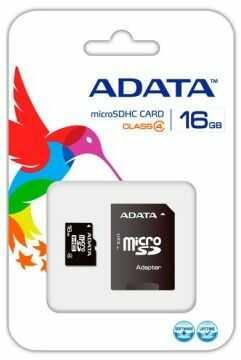 Karta pamięci MicroSD ADATA SDHC 16GB Class 4 + adapter (AUSDH16GCL4-RA1)