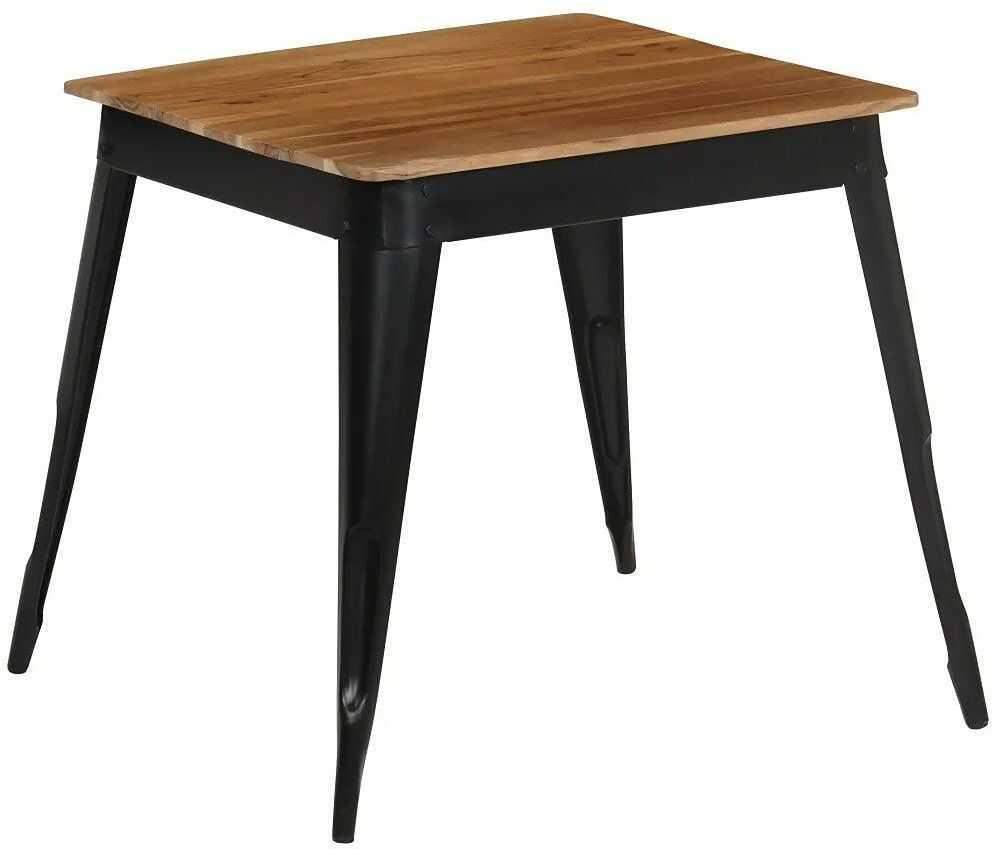 Stół z litego drewna akacjowego Unixo  brązowy